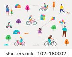 summer outdoor scene with... | Shutterstock .eps vector #1025180002