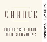 elegant modern font. vector... | Shutterstock .eps vector #1025181892