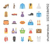 fashion vector icons...   Shutterstock .eps vector #1025186902