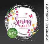 spring sale banner template... | Shutterstock .eps vector #1025192545