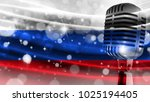 microphone on a background of a ... | Shutterstock . vector #1025194405