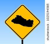 republic of el salvador map... | Shutterstock .eps vector #1025194585