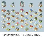 vector isometric buildings set. ... | Shutterstock .eps vector #1025194822