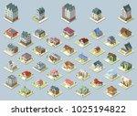 vector isometric buildings set. ... | Shutterstock .eps vector #1025194822