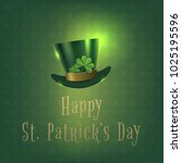 happy saint patrick day banner... | Shutterstock .eps vector #1025195596
