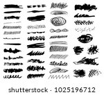 set of hand drawn pencil... | Shutterstock .eps vector #1025196712