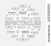 spectacles round linear... | Shutterstock .eps vector #1025202052