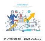 financial results. data... | Shutterstock .eps vector #1025203132