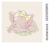 cute little newborn baby... | Shutterstock .eps vector #1025205892