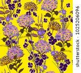 trendy  garden floral pattern... | Shutterstock .eps vector #1025206096