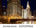 Chicago River And Downtown...