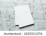 blank portrait mock up paper.... | Shutterstock . vector #1025211376