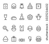 easter thin line icons | Shutterstock .eps vector #1025216632