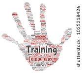 vector conceptual training ... | Shutterstock .eps vector #1025218426