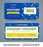 discount voucher template with... | Shutterstock .eps vector #1025222365