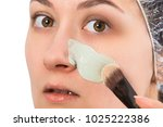 skin care concept. scrub for... | Shutterstock . vector #1025222386