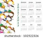 colorful school calendar on new ... | Shutterstock . vector #102522326
