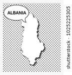 pop art map of albania | Shutterstock .eps vector #1025225305