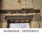 restoration work on an old... | Shutterstock . vector #1025226412