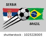 flags of serbia and brazil  ...   Shutterstock .eps vector #1025228305
