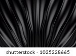 black silk drapery and fabric... | Shutterstock . vector #1025228665