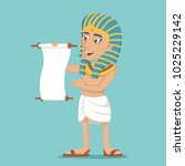 egyptian character read scroll... | Shutterstock .eps vector #1025229142