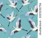 crane  pattern  illustration   Shutterstock . vector #1025233756