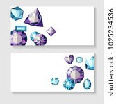 invitation with gems.blue and... | Shutterstock .eps vector #1025234536