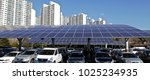 solar panel installed in... | Shutterstock . vector #1025234935