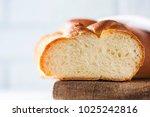 homemade challah bread ... | Shutterstock . vector #1025242816