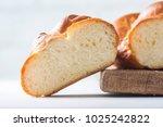 homemade challah bread ... | Shutterstock . vector #1025242822