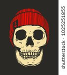 sailor skull  fisherman skull...   Shutterstock .eps vector #1025251855