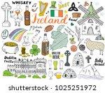 ireland sketch doodles. hand... | Shutterstock .eps vector #1025251972
