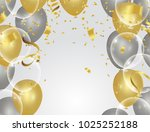 colorful balloons  holiday... | Shutterstock .eps vector #1025252188
