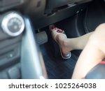 selective focus of female foot...   Shutterstock . vector #1025264038