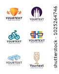 logo collections for different... | Shutterstock .eps vector #1025264746