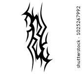 tattoo tribal vector design....   Shutterstock .eps vector #1025267992