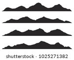 mountains silhouettes on the... | Shutterstock .eps vector #1025271382