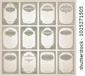 set of vintage frame with... | Shutterstock .eps vector #1025271505