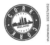 cork ireland europe round stamp ... | Shutterstock .eps vector #1025276452