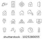 set of smart home line vector... | Shutterstock .eps vector #1025280055