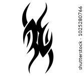 tattoo tribal vector design.... | Shutterstock .eps vector #1025280766