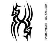 tribal pattern tattoo vector... | Shutterstock .eps vector #1025280805