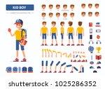 kid boy character constructor... | Shutterstock .eps vector #1025286352