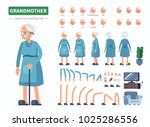 elderly woman character... | Shutterstock .eps vector #1025286556