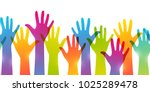 seamless border with colorful... | Shutterstock .eps vector #1025289478