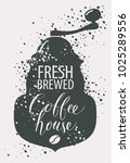 vector banner on coffee theme... | Shutterstock .eps vector #1025289556