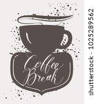 vector banner on coffee theme... | Shutterstock .eps vector #1025289562