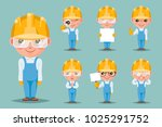 builder engineer technician... | Shutterstock .eps vector #1025291752