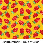 strawberry doodle colorful... | Shutterstock .eps vector #1025292805